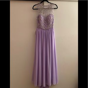 Gorgeous lilac beaded prom dress